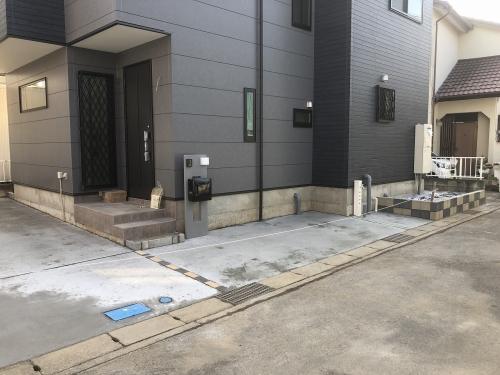 駐車スペース(建築中 H31.2.22撮影)