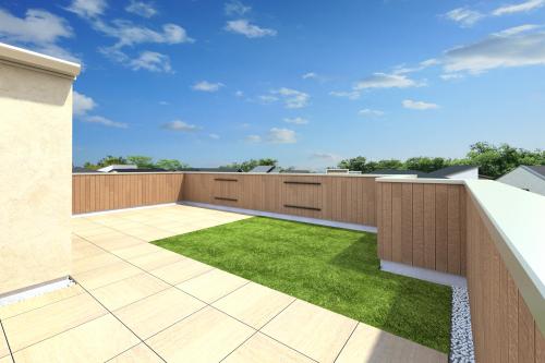 屋上庭園完成予想イメージ