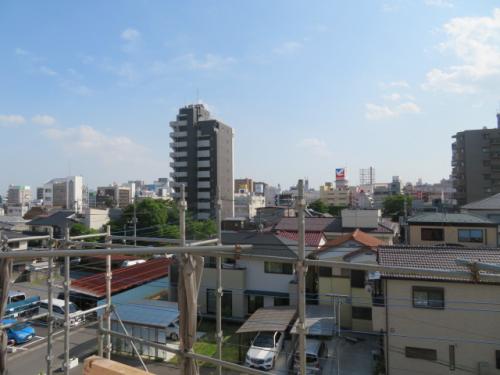 屋上からの眺望(建築中 R3.5.10撮影)