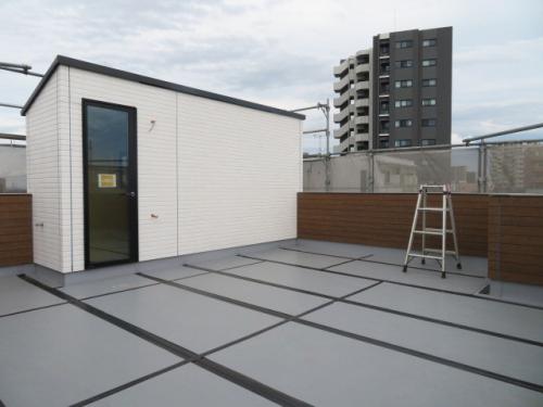 屋上(建築中 R3.6.20撮影)
