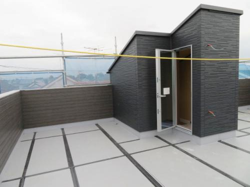 屋上(建築中 R3.9.17撮影)