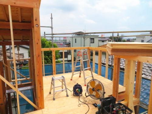 屋上(建築中 R3.8.21撮影)