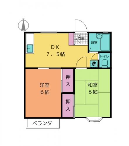 アパート間取図