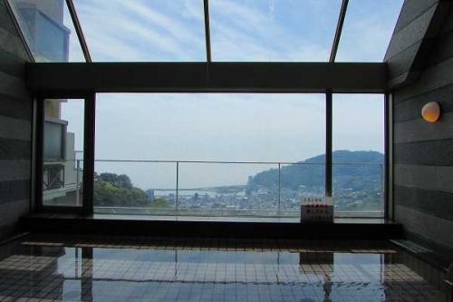 温泉大浴場からの眺め