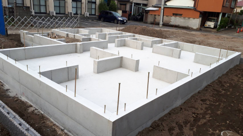 基礎工事完工(2020年10月5日)