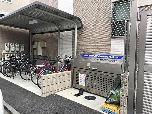 自転車置場、ゴミ置場
