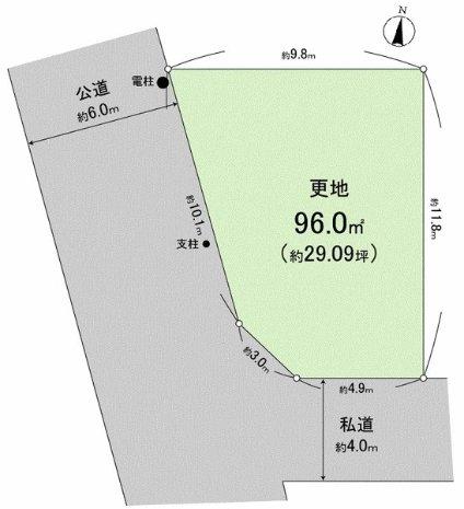 相模原市緑区西橋本条件無し売り地物件情報 区画図