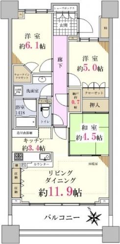 相模原市緑区橋本駅エリアマンション物件情報 間取り図
