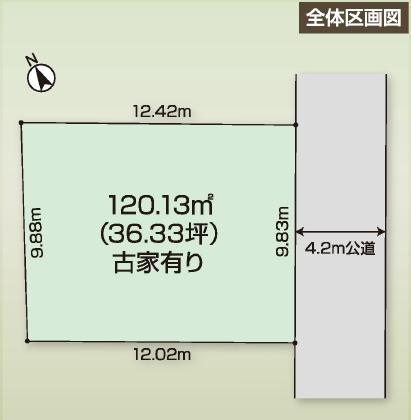 相模原市中央区田名エリア売り地物件情報 区画図