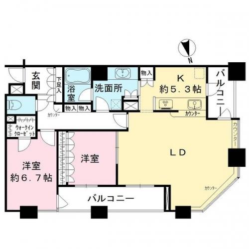 相模原市緑区橋本駅徒歩圏エリアマンション物件情報 間取り図