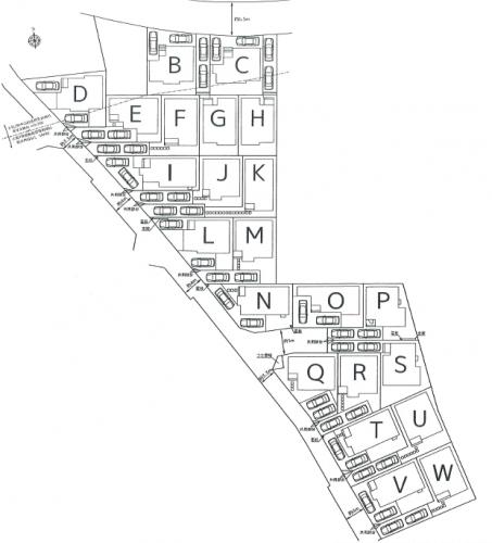 相模原市緑区橋本エリアの土地物件情 区画図