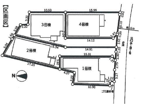 相模原市緑区元橋本町エリアの新築一戸建て物件情報 区画図