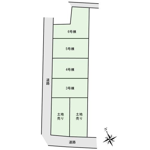 町田市相原町エリアの新築建売分譲一戸建て物件情報 区画図