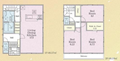 相模原市緑区西橋本新築分譲住宅№7号棟間取り図