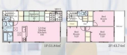 相模原市緑区町屋新築分譲住宅建物№3号棟間取り図