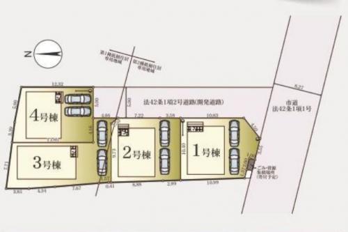 相模原市緑区町屋新築分譲住宅区画図