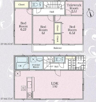 相模原市緑区橋本エリアの新築一戸建て物件情報 間取り図面