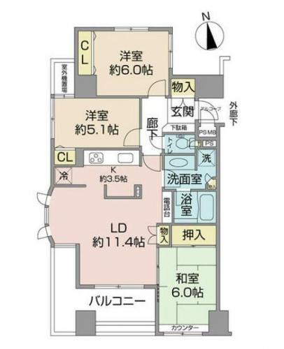 相模原市中央区イトーピア相模原ウィズセンターフォート中古マンション物件情報