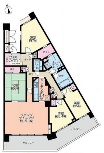 橋本駅徒歩圏広々4LDKタイプパークヴェール橋本中古マンション物件情報リビングホーム
