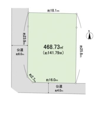 緑区根小屋売り地(有)リビングホーム
