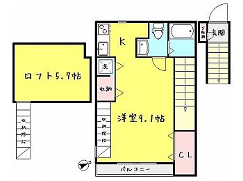 2階間取図